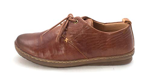 Comfortiva Womens Cassandra Leather Closed Toe Oxfords, Whiskey, Size 6.0