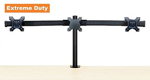 Multi Monitor Arm - EZM Deluxe Triple Monitor Mount Stand Desktop Clamp Supports up to 3 28