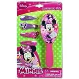 Minnie Mouse Bowtique Hair Brush & Barrettess Accessory Set