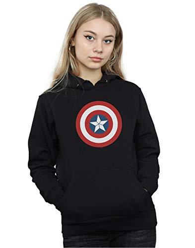 Marvel Women's Captain America Civil War Shield Hoodie Black Large