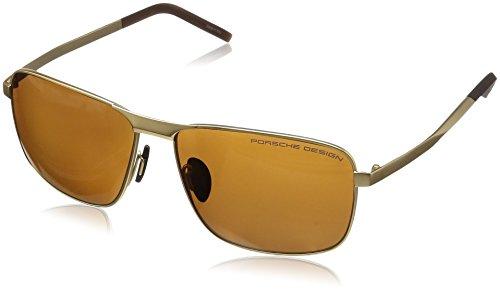 3e3a7c6e8531 Amazon.com  Porsche Design Men s P8643 P 8643 A Black Sunglasses 59mm   Clothing