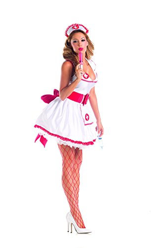 Party King Women's Naughty Nurse Sexy 4 Piece
