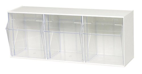 Quantum QTB303 Clear 7-3/4-Inch by 23-5/8-Inch by 9-1/2-Inch Tip Out Bin System, White (Bin Storage Tip Out)