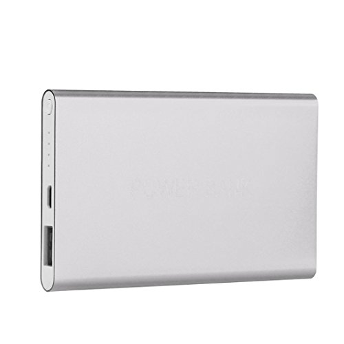 Kshion Ultrathin 12000mAh Portable USB External Battery Charger Power Bank For Cell Phone (Silver)