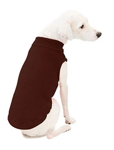 Gooby - Stretch Fleece Vest, Pullover Fleece Vest Jacket Sweater for Dogs, Brown, - Fleece Pullover Colorado
