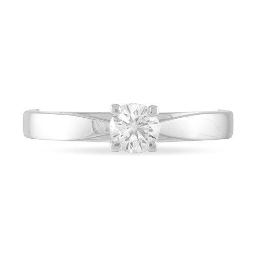 HISTOIRE D'OR - Solitaire Or et Diamant - Femme - Or blanc 375/1000