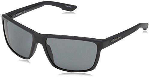 Columbia Men's Zonafied Rectangular Sunglasses, Matte Shark, 58 mm