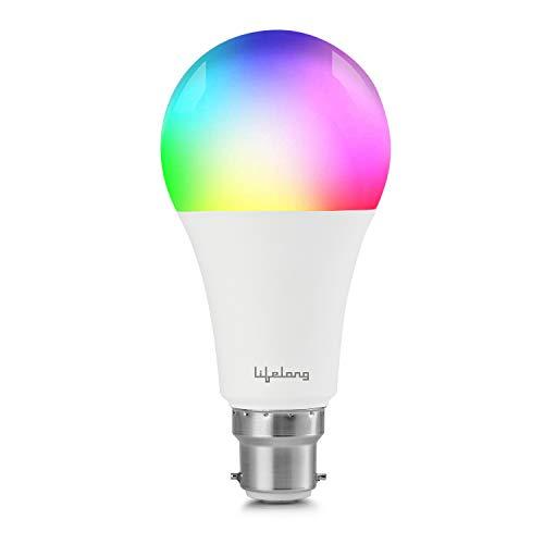 Lifelong 12Watt Wi-Fi Enabled Smart LED Bulb – Compatible with Amazon Alexa and Google Assistant (B22 -Type Bulb) – 16…