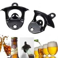 Black Stainless Steel Wall Mount Wine Beer Bottle Bar Opener