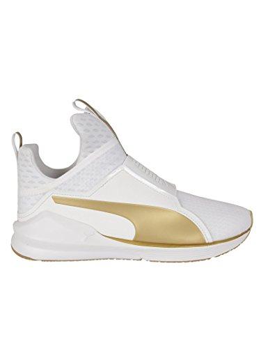 Puma Femme 189192001 Blanc/Or Polyamide Chaussures De Skate