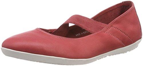 Softinos Ladies Ona380sof Lavato Chiuso Ballerinas Rosso (rosso)