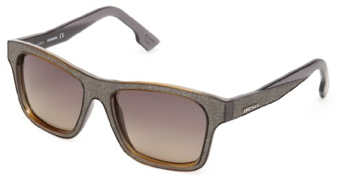 Diesel DL00715520B Wayfarer Sunglasses,Grey,55 - Diesel Sunglasses Mens