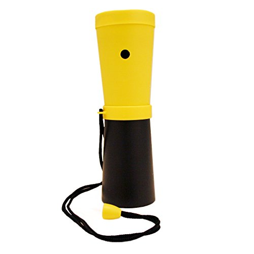 Storus SuperHorn, Loud Breath Powered Horn For Safety, Sports, Parties, Camping And More, Yellow And Black, 6.75 Inches Long 1 pc