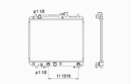 amazon com suzuki esteem 1 6l 1 8l l4 replacement radiator withSuzuki Automatic Transmission Diagram #16