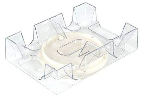 Revolving Card Holder - 2 Deck Revolving Rotating Canasta Playing Card Tray, 2 Pack
