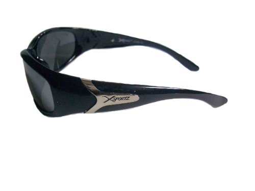 4beb4834eff Amazon.com  Xsportz Black Sport Sunglasses UV400  Health   Personal Care