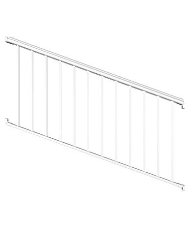 Ultimate Aluminum 6' Stair Rail Kit - White Fine Textured by Ultimate Railing