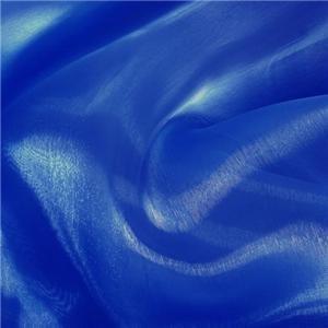 (Royal Blue Mirror Organza Fabric 58
