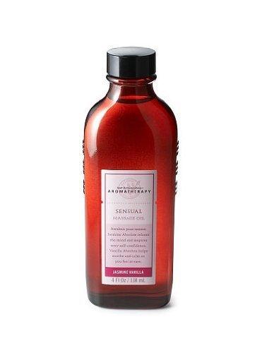 Bath-Body-Works-Aromatherapy-Jasmine-Vanilla-Sensuality-Massage-Oil-4-fl-oz-118-ml