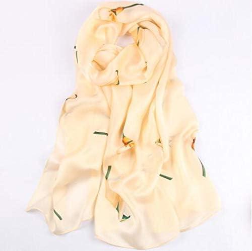 Utini Women Fashion Silk Scarf Flower Print Summer Soft Long Scarf - (Color: R13) 31Ur0UrLF9L
