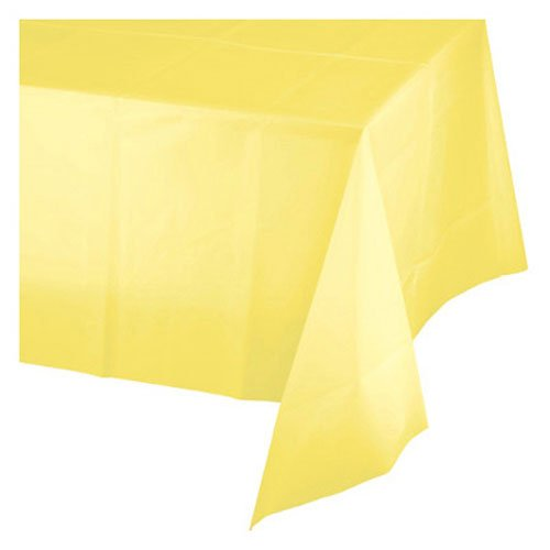 Touch of Color Plastic Table Cover, 12-Count, Mimosa ()