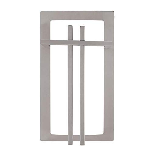"LJ OutDoor Light Wall Sconce 4216 Stainless Steel Modern Design Outdoor 12"" Rectangular Wall Mount Pocket Lantern Yard Bathroom Kitchen Fixture Metal frame+Acrylic housing"