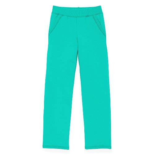 Hanes Girls Fleece Open Leg Sweatpants with Pockets (K377) -Deep Aqua -M