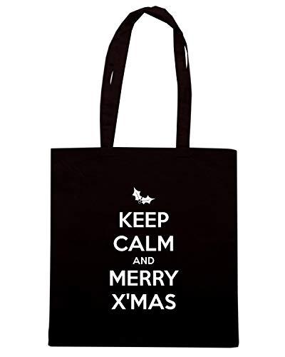 KEEP TKC2776 MERRY X'MAS AND Borsa CALM Shopper Nera BvfqtA