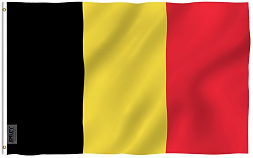 Anley Fly Breeze 3x5 Foot Belgium Flag - Vivid Color and UV Fade Resistant - Canvas Header and Double Stitched - Belgian National Flags Polyester with Brass Grommets 3 X 5 Ft