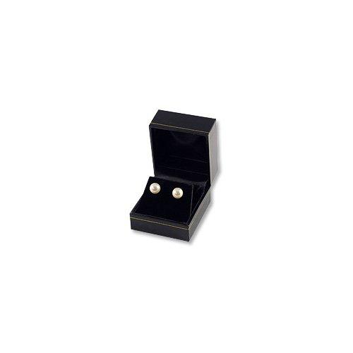 Cartier Style Earring Box Black Leatherette