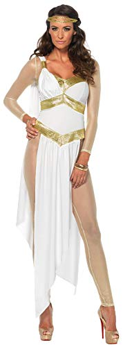 Spartan Goddess Costume (Leg Avenue Women's Costume, White/Gold,)