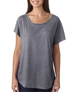Next Level Women's Tri-Blend Dolman T-Shirt, Medium, Premium Hthr