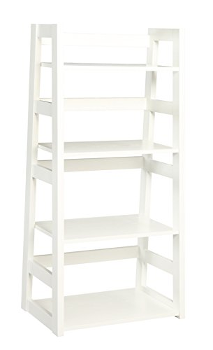 Convenience Concepts Trestle Bookcase, White