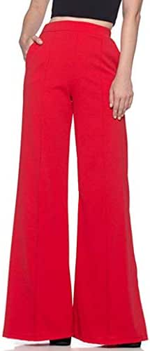 CCatyam Wide Leg Pants for Women, Yoga Trousers Plus Size High Waist Solid Loose Fashion
