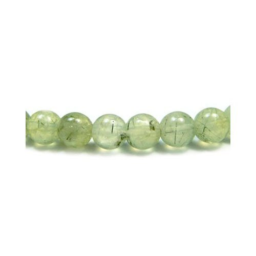 Prehnite Round Beads (Strand Of 45+ Green Prehnite 8mm Plain Round Beads - (GS3254-3) - Charming Beads)