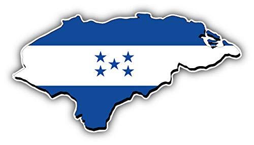 "KW Vinyl Magnet Honduras Map Flag Truck Car Magnet Bumper Sticker Magnetic 5"""