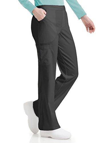 Urbane Women's Bailey Drawstring Stretch Cargo Scrub Pant, Graphite, - Bailey Clothes