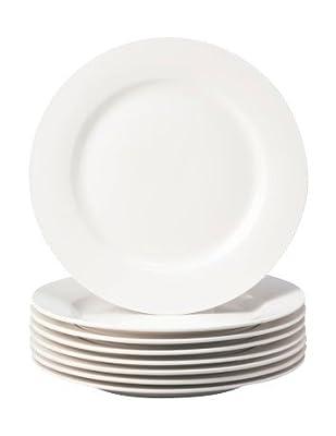 Basic White 8 PC Dinner Plates