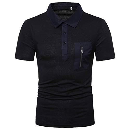 - Kiasebu Men's Short Sleeve Moisture Wicking Performance Striped Solid Patchwork Stand Collar Golf Polo Shirt
