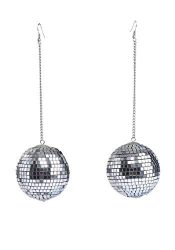 1960s Mod Disco Ball Earrings Standard Silver