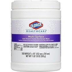 Clorox Healthcare Multi-Surface Quat Alcohol Cleaner Disinfectant Wipes Case ...