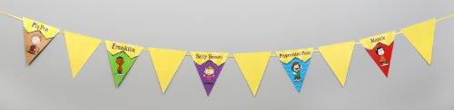 Eureka Peanuts Classic Characters Pennant Banner, Measures 10 ft long