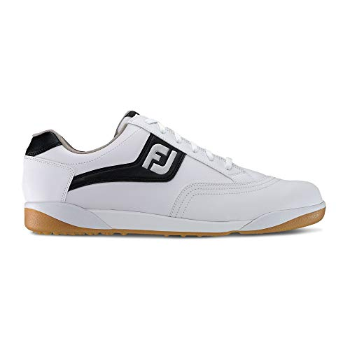 FootJoy Men's FJ Originals-Previous Season Style Golf Shoes White 9.5 M Black, - Shoes Golf Classics Footjoy