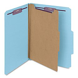 Divider Pressboard 2 (Smead Pressboard Classification File Folder with SafeSHIELD Fasteners, 1 Divider, 2