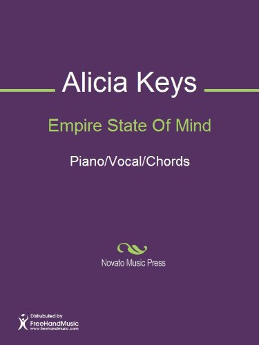 Empire State Of Mind Sheet Music Pianovocalchords Kindle