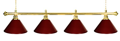 - Billiard Lamp Brass Rod Choose Burgundy , Green or Black Metal Shades (brass burgundy) ()
