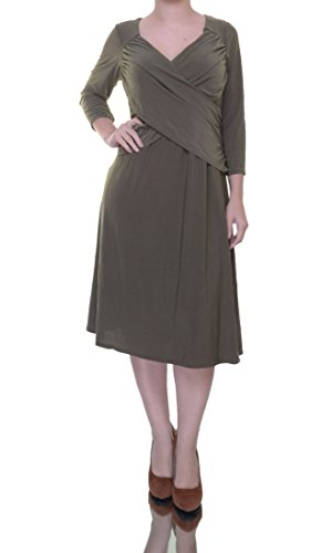 - NY Collection Womens B-Slim Matte Jersey Wear to Work Dress Green S