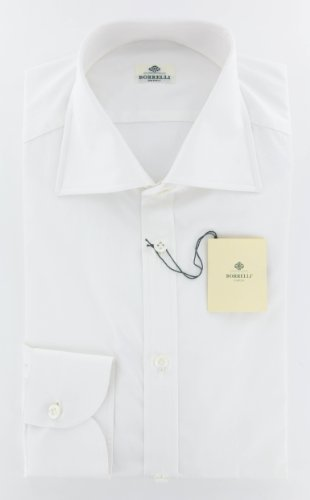 new-luigi-borrelli-white-solid-slim-shirt-165-42