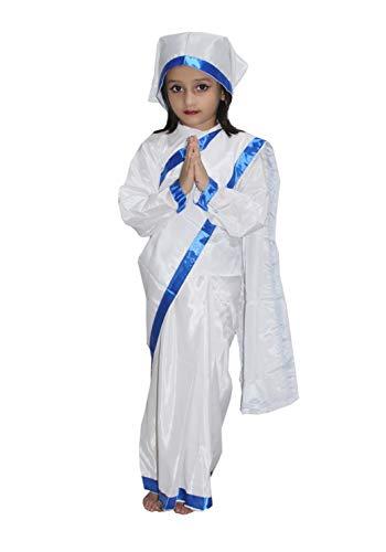 Mother Teresa fancy dress for kids,National Hero Costume for School Annual function -