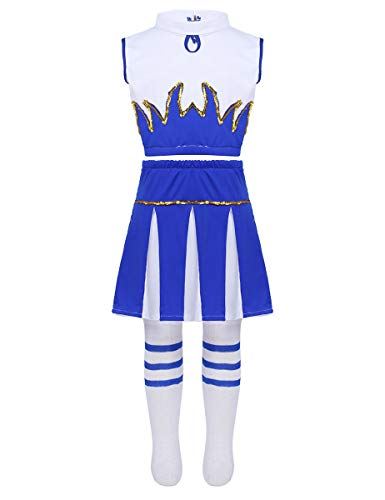 CHICTRY Girls Children Champion Cheer Leader Uniform Sequin
